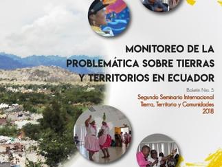 Boletín Nro. 5 Memorias del II Seminario Internacional Tierra, Territorios y Comunidades.