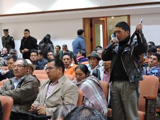 Últimas audiencias en la consulta a Ley de Tierras