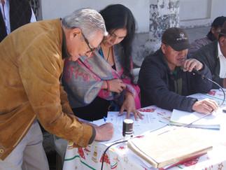 Firma de convenio de cooperación entre la Comunidad Indígena Pukara de Pesillo y SIPAE