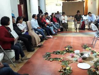 Líderes y lideresas de varios pueblos de la sierra se reunieron para realizar una reflexión política