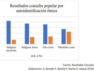 ¿Cuál fue el comportamiento electoral de la última consulta popular, en territorios rurales indígena