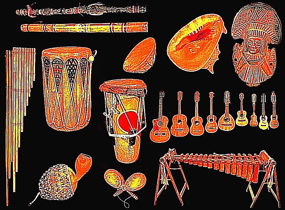 América Latina - музыкальные инструменты