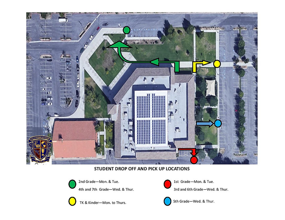 Student Drop off and Pick up locations 3