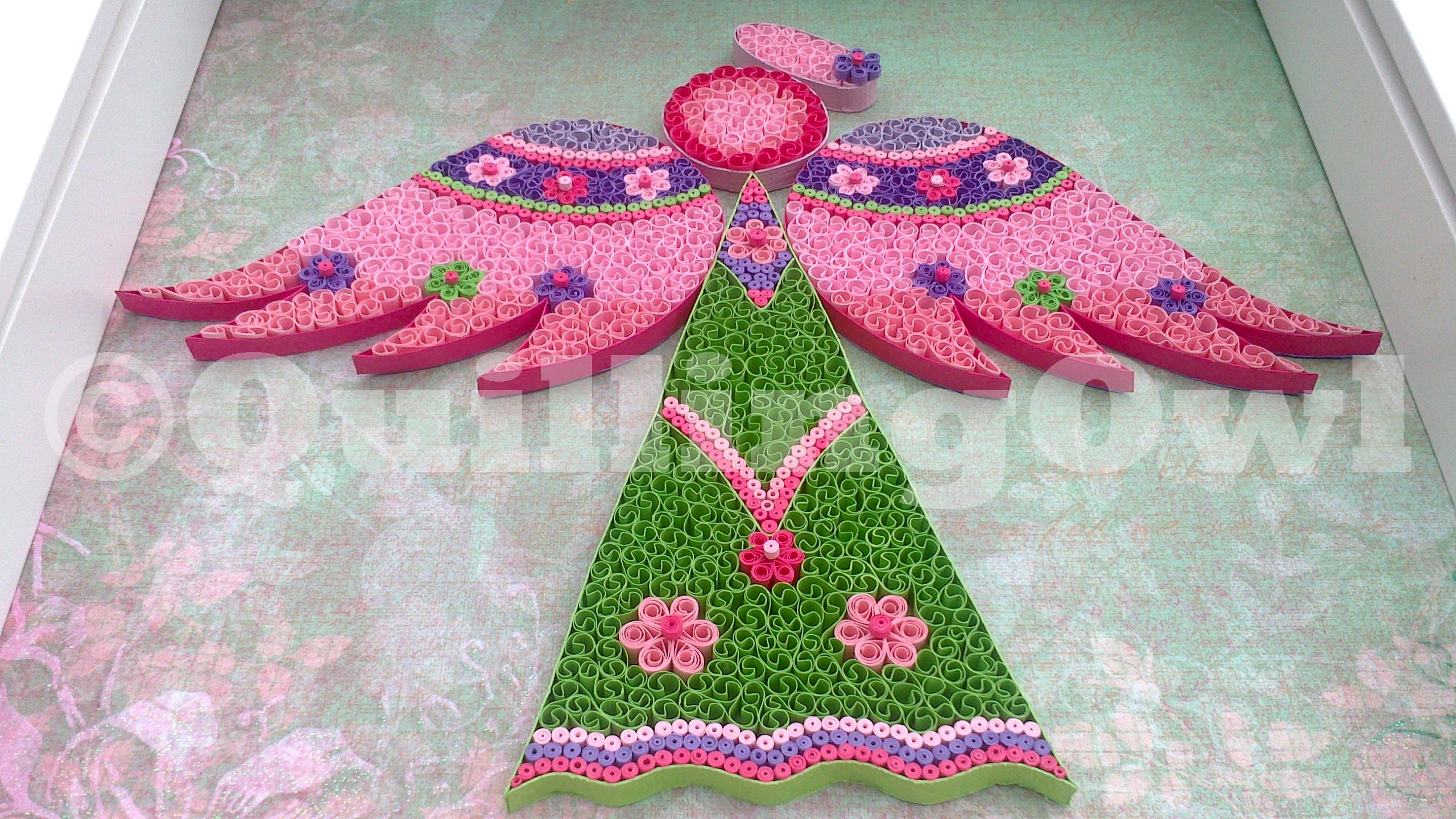 Love Angel , paper quilling
