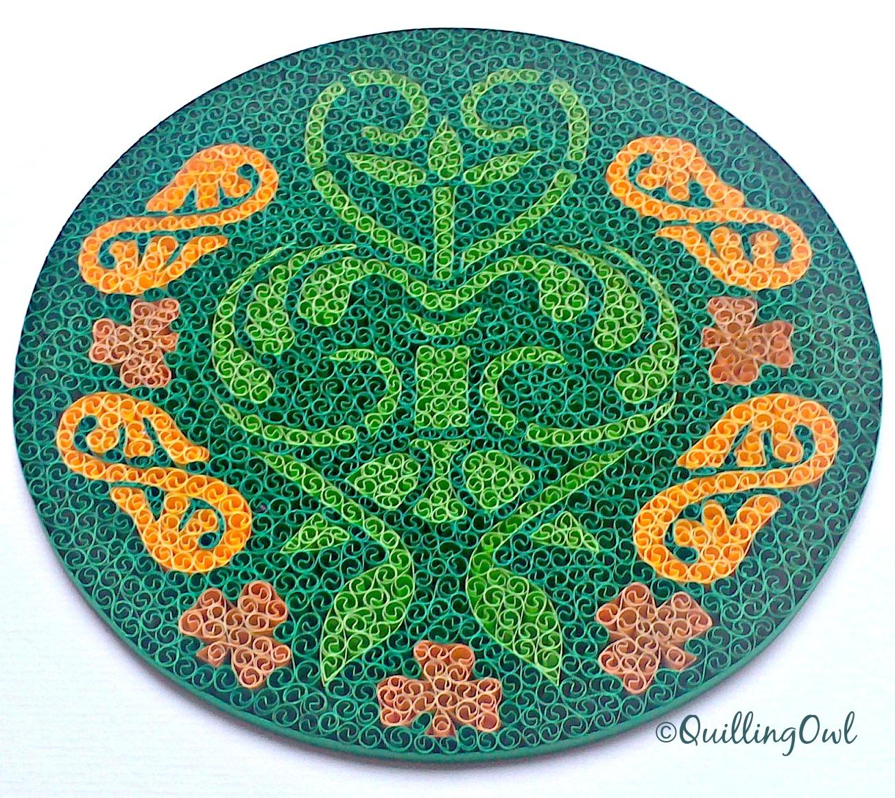 Celtic Love, paper quilling