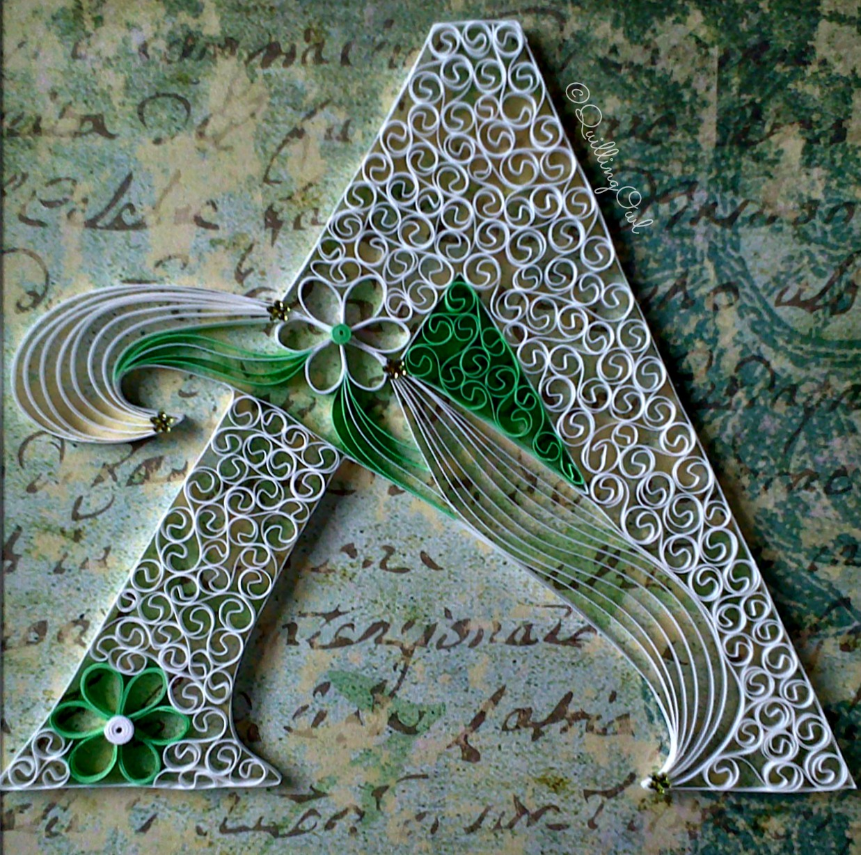 A , paper quilling