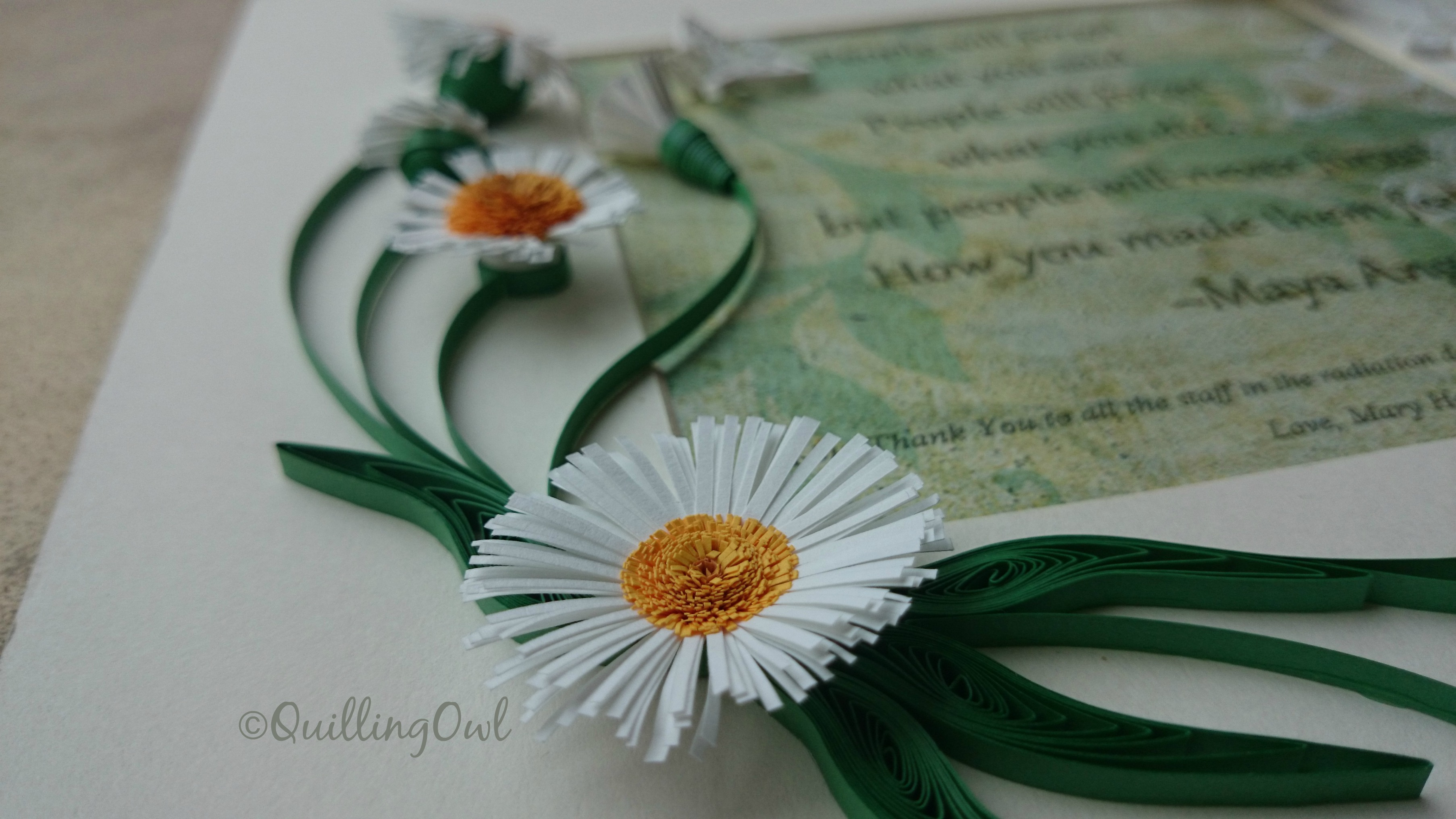 Thank you frame, paper quilling