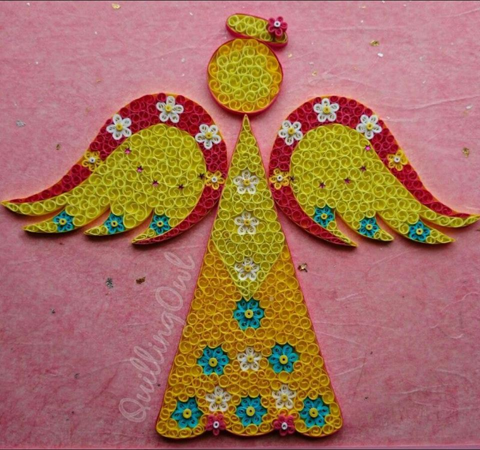 Sun Angel, paper quilling