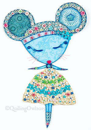 quilled mouse illustration by Quilling Owl, quilled mouse , mouse illustration