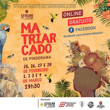 MATRIARCADO ONLINE FEV E MARÇO 2021 POST
