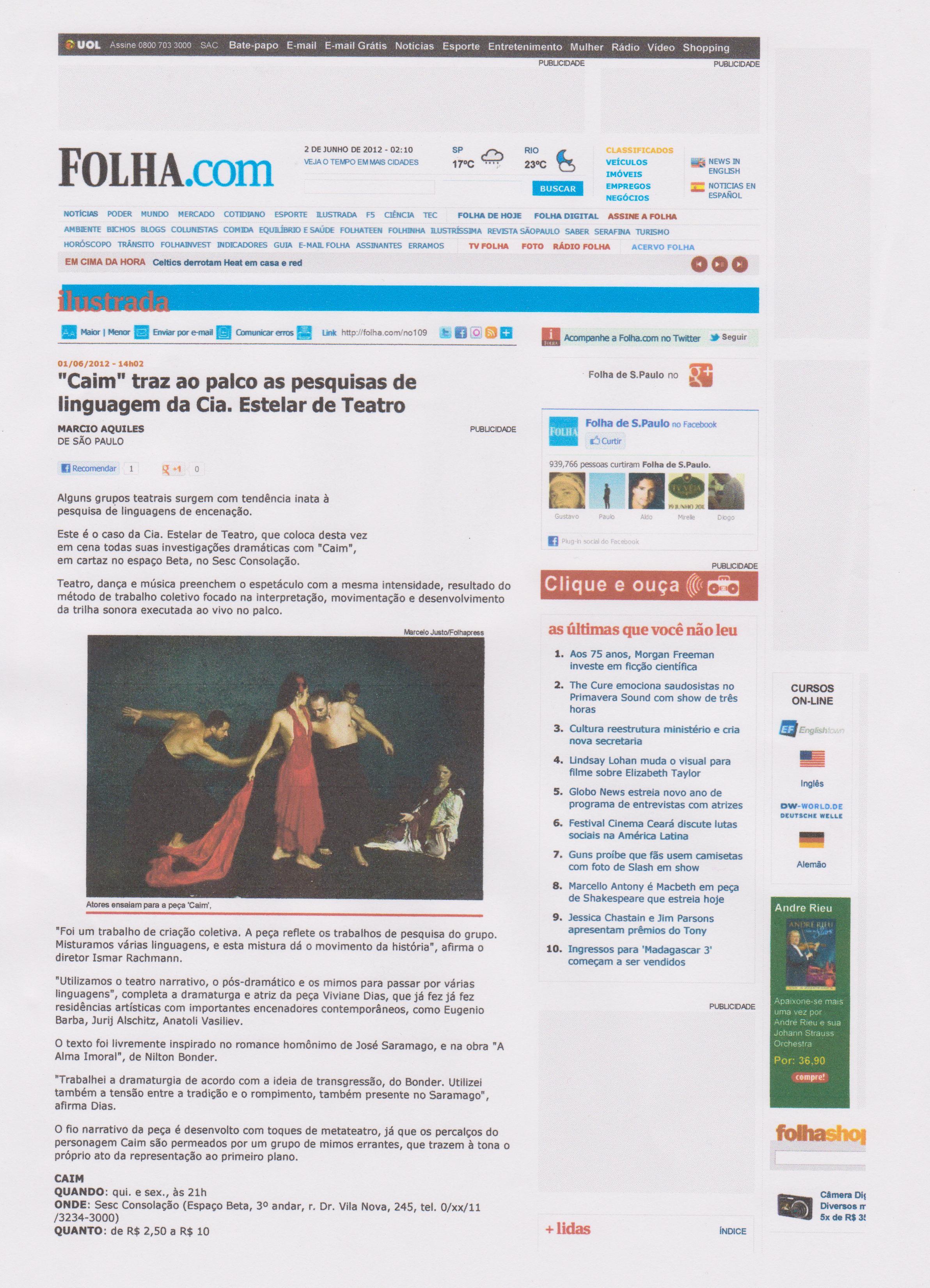 Caim Folha.com