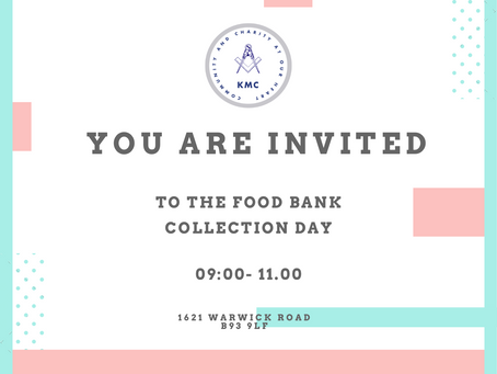 Food Bank Day Coming Up!