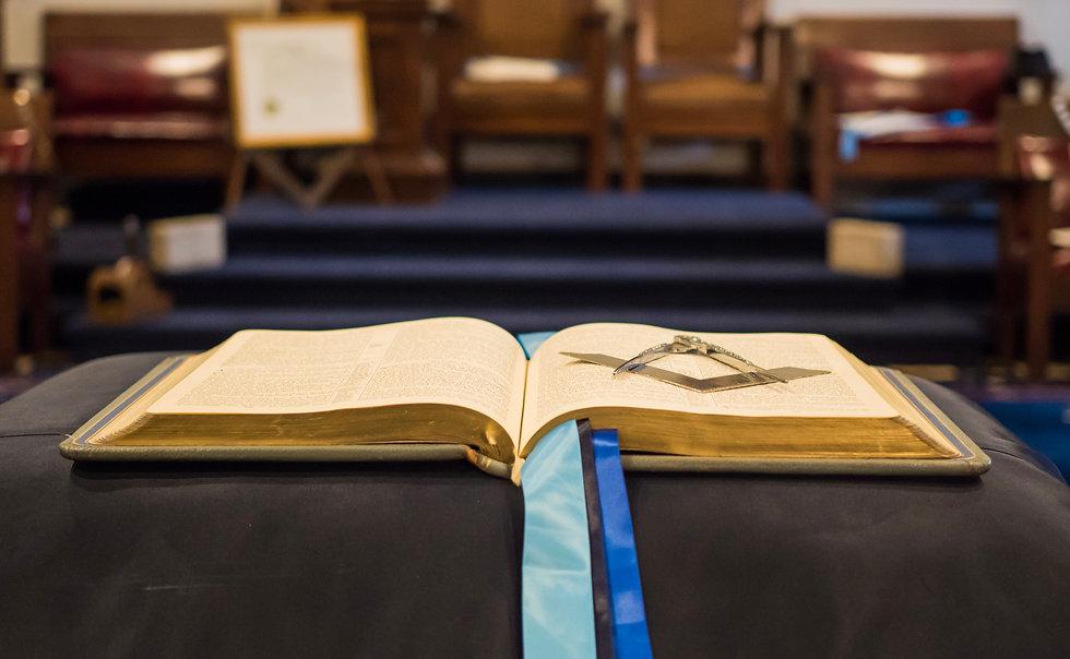 Freemasonry Square, compasses, and bible
