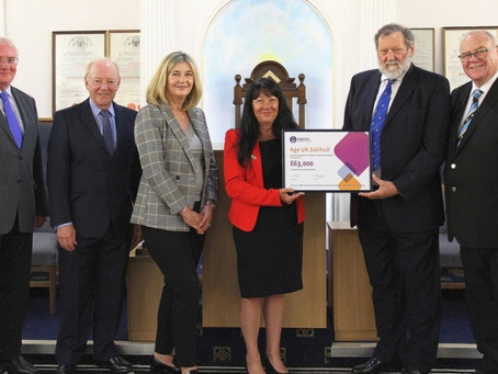 Knowle Masonic Centre working in partnership with Age UK Solihull thanks to £63,000 grant