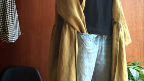 ショールコートとマキシスカート