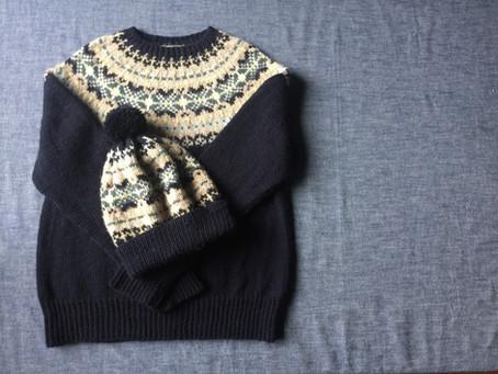 フェアアイルヨークのセーター完成