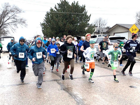 Hearty runners and walkers at 2019  Shamrock Shuffle