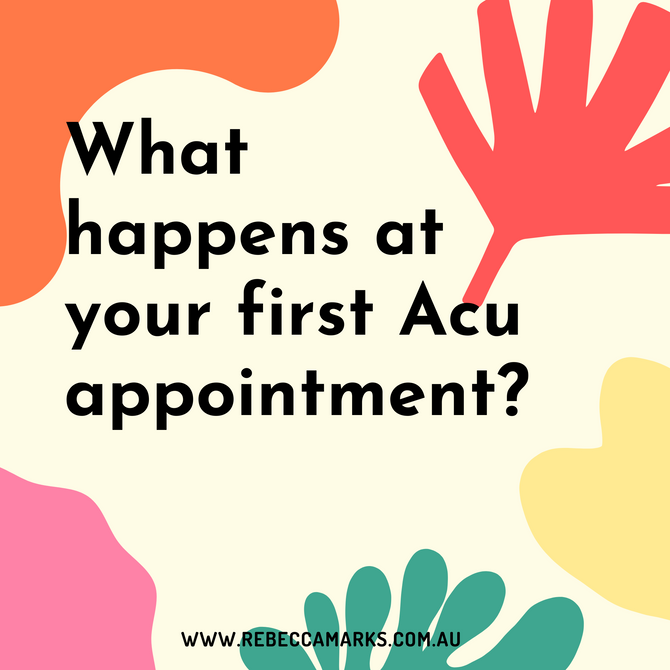What happens at your first appointment?