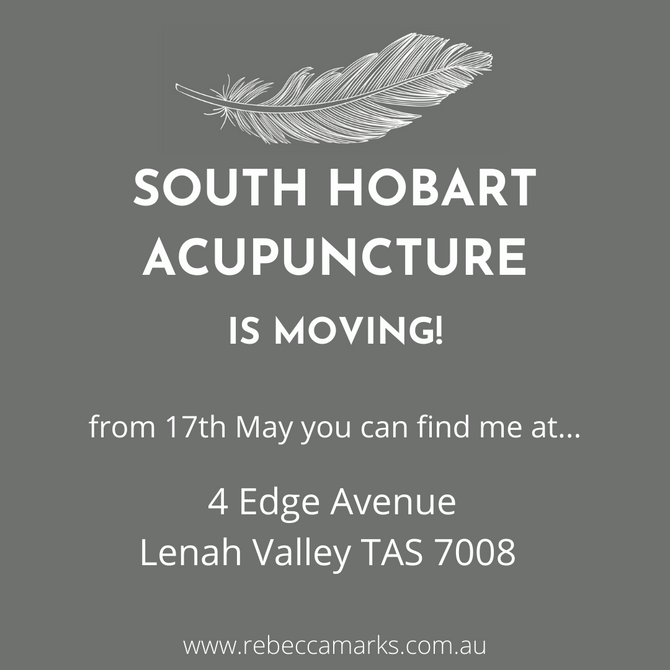 South Hobart Acupuncture is moving!
