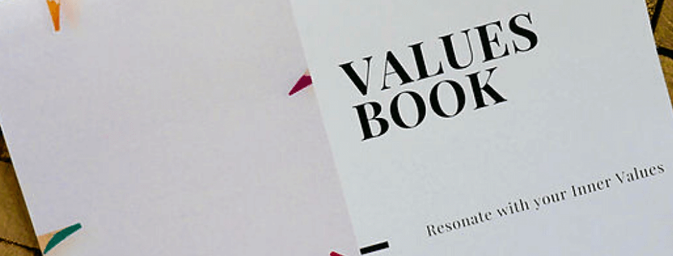 Values Book - Exercise Based Workbook for Connecting with InnerValues