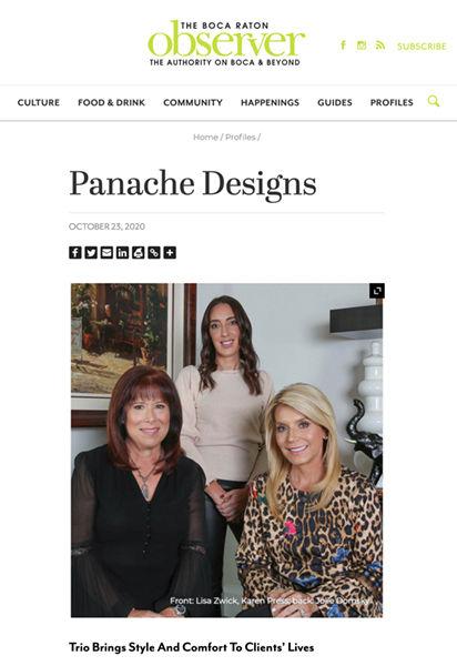 Boca Raton Observer - Wonder Woman - Panache Designs
