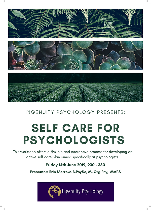 SELF CARE FOR PSYCHOLOGISTS - interest g