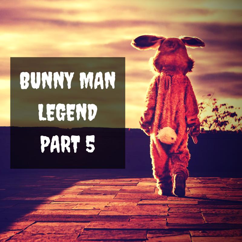 Creepy Man Walking Away Wearing A Bunny Costume