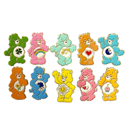 Care Bear enamel pin set of 10