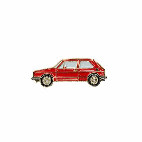 VW Golf Enamel Pin - Red