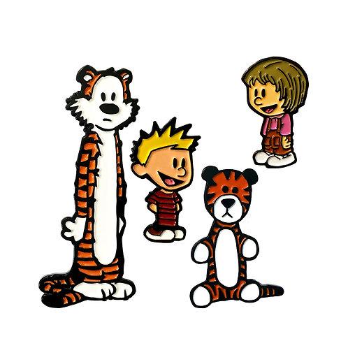 Calvin and Hobbes Pin Set