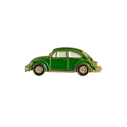 VW Beetle Enamel Pin - Green