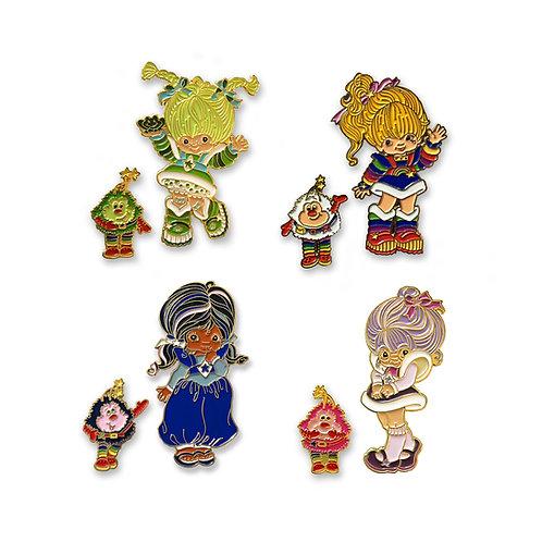Rainbow Brite Enamel Pin Set of 8