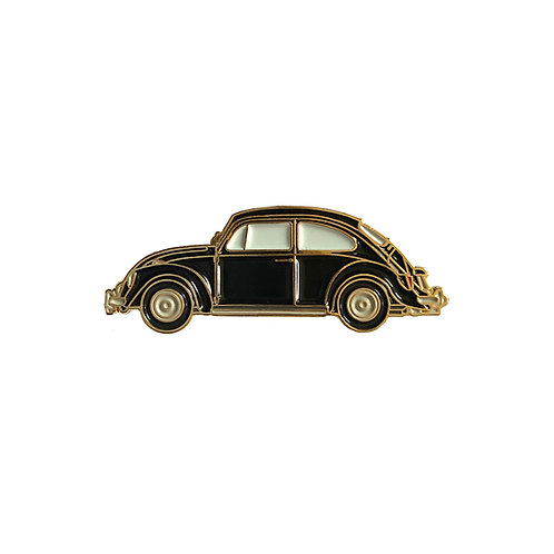 VW Beetle Enamel Pin - Black