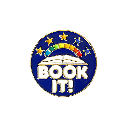 Book It! enamel pin