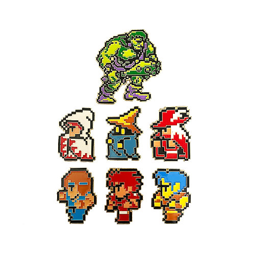 Final Fantasy 1 NES enamel pin set of 7