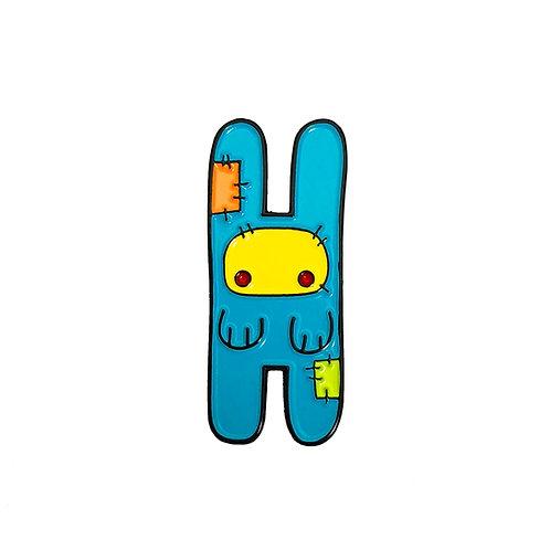 Blue Bunny enamel pin