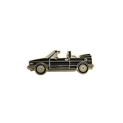 VW Cabriolet enamel pin