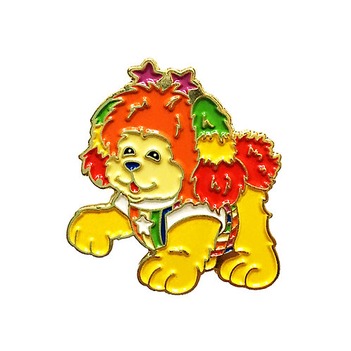 Rainbow Brite Puppy Brite enamel pin