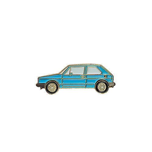 VW Golf Enamel Pin - Light Blue