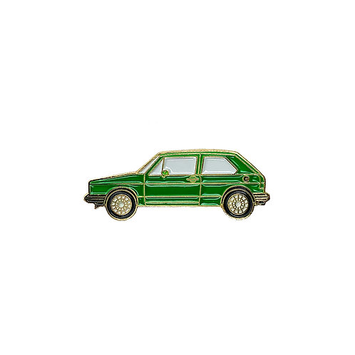VW Golf Enamel Pin - Green