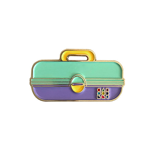 Caboodles Enamel Pin - Mint Green and Violet