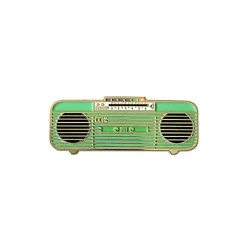 80s Green Boombox Enamel Pin
