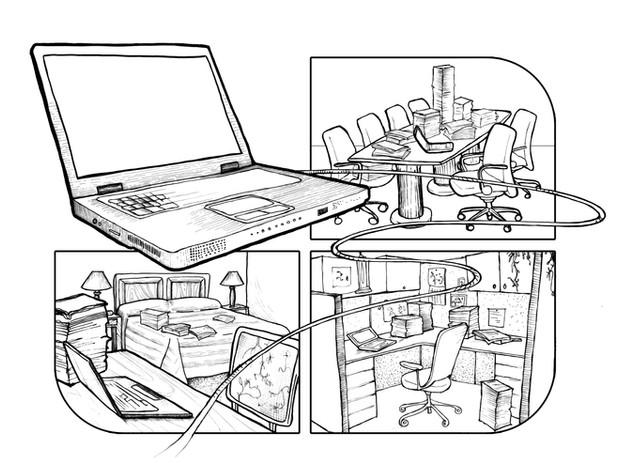 Four Frame Office Comic