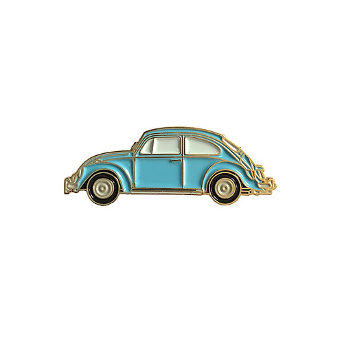 VW Beetle Enamel Pin - Blue