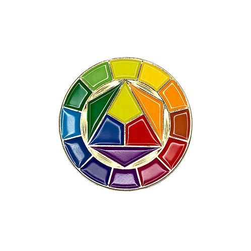 Color Wheel Enamel Pin