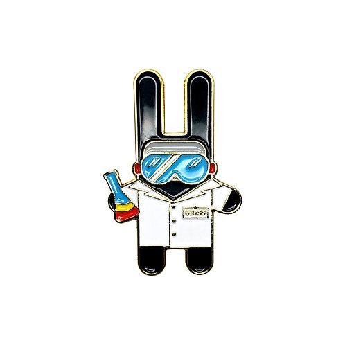 Lab Bunny Enamel Pin