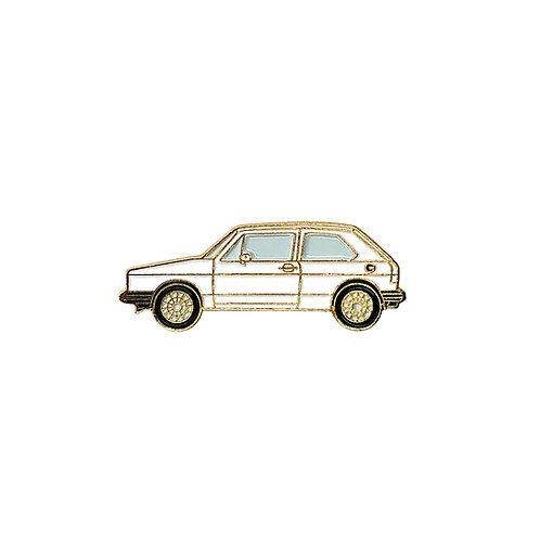VW Golf Enamel Pin - White