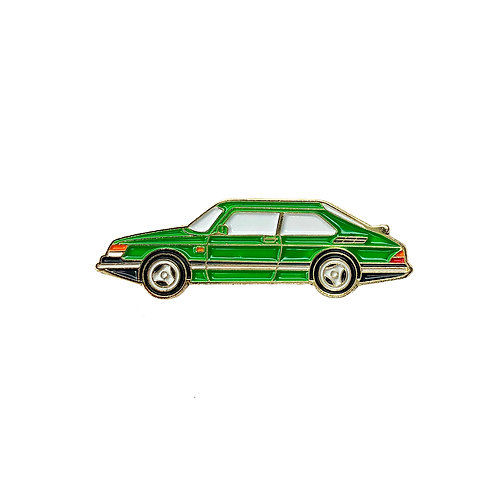 Saab 900 Enamel Pin - Green