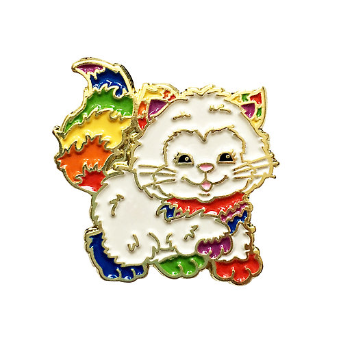 Rainbow Brite Kitty Brite enamel pin