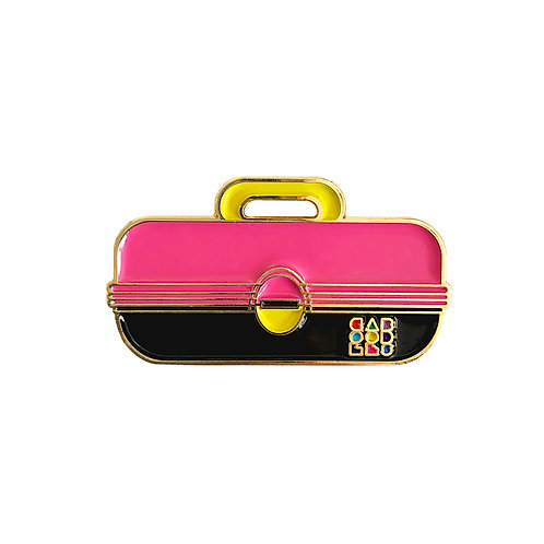 Caboodles Enamel Pin - Hot Pink and Black